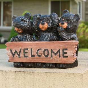Welcome Bears Statue by Sunjoy