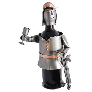 Female Golfer Caddy 1 Bottle Tabletop Wine Rack