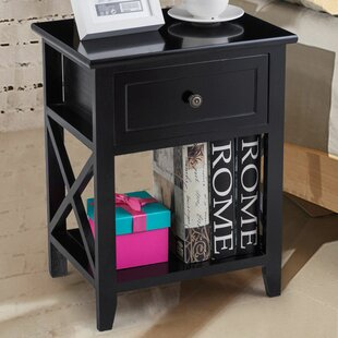 Buddy 1 Drawer Nightstand (Set of 2) Highland Dunes