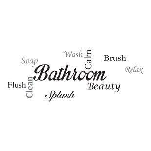 Home Decor Line Bathroom Quote Wall Decal