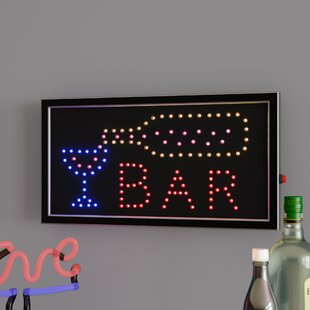 Bar Animated Marquee Sign ByWinston Porter