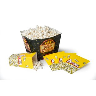 Disposable Popcorn Tub 5 Piece Serving Bowl Set