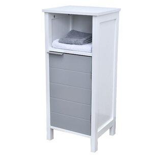 Freestanding Bathroom Floor 1 Door with Shelves 14