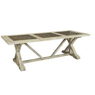 Gracie Oaks Zana Tri-Stone Solid Wood Din..