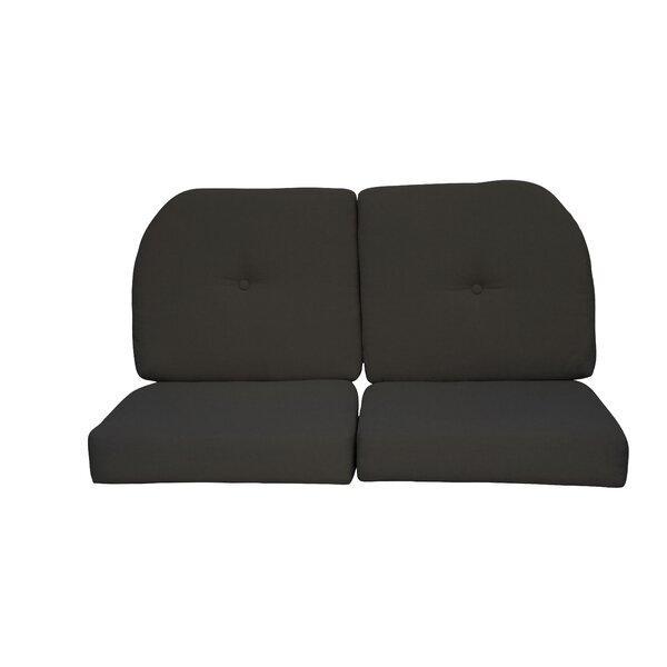 Amazing Wicker Indoor Outdoor Sunbrella Loveseat Cushion Short Links Chair Design For Home Short Linksinfo