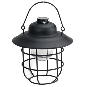 Felicia Cup Shaped Solar Powered 1 Light Outdoor LED Hanging Lantern