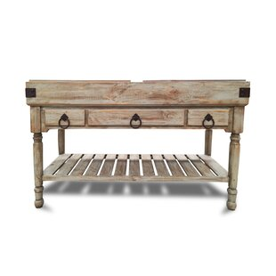 Brunton Kitchen Island with Butcher Block August Grove