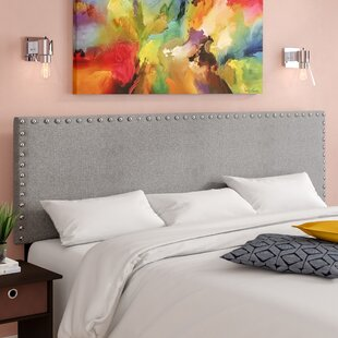 Clymer Solid Wood Upholstered Panel Headboard by Mercer41