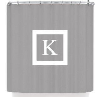 Monogram Solid Shower Curtain
