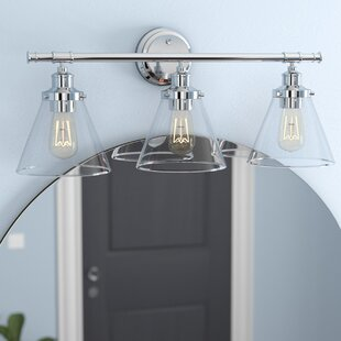 Bathroom Vanity Lighting Industrial Kendrick 3light Vanity Light Wayfair Bathroom Vanity Lighting