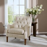 Galesville 29.25'' Wide Tufted Polyester Wingback Chair