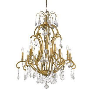 Rosdorf Park Manorhaven 12-Light Candle Style Chandelier