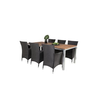 Hakon 6 Seater Dining Set With Cushions By Sol 72 Outdoor