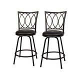 Schmitt Adjustable Height Bar Stool (Set of 2) by Fleur De Lis Living