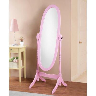 Constantia Traditional Floor Cheval Mirror Alcott Hill Finish: Pink