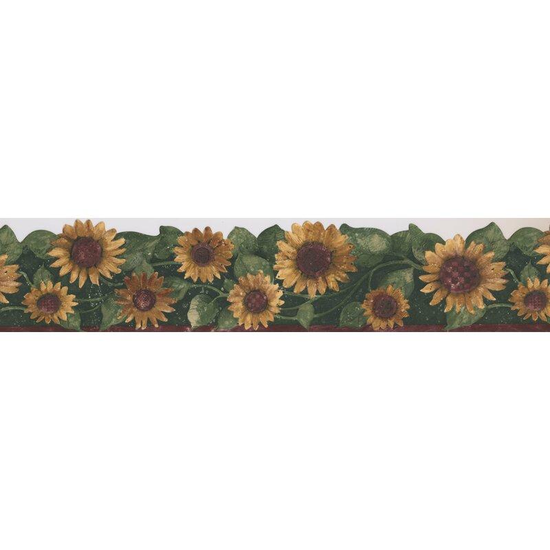 Retroart Sunflower Floral Flowers 15 X 5 75 Wallpaper Border