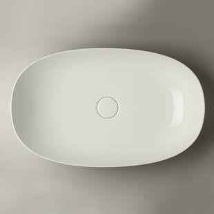 Compare prices Pod Ceramic Oval Vessel Bathroom Sink ByWS Bath Collections