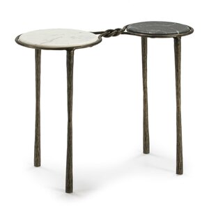 Auxiliary Table 68X32x62 Marble White / Black / Gold Forged Iron By Bloomsbury Market