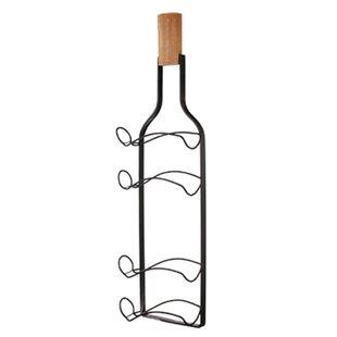 Fleur De Lis Living Crabill Metal 4 Bottle Wall Mounted Wine Rack