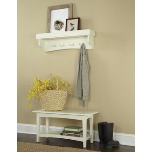 Alcott Hill Bel Air -Piece Hall Tree Coat Hook and Bench Set