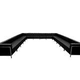 Bouffard 169 Wide Faux Leather Symmetrical Large Sectional by Orren Ellis