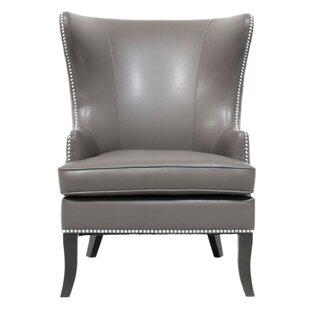 Rosdorf Park Merced Upholstery Wingback Chair
