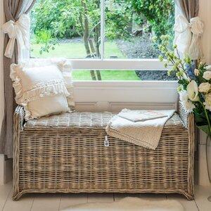 Sitzbank Key Largo aus Rattan von Maine Furniture Co.