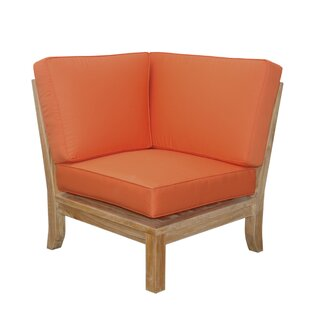 Anderson Teak Luxe Teak Corner Patio Chair with Sunbrella Cushions