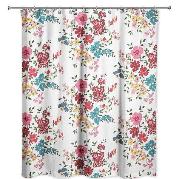 Ophelia Co Wadebridge Floral Single Shower Curtain Wayfair