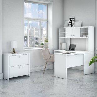 Kathy Ireland Office by Bush Echo 3 Piece L-Shaped Desk Office Suite