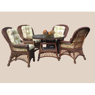 Rosado 5 Piece Dining Set with Cushions (..