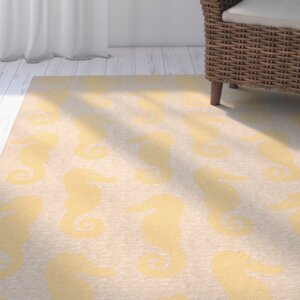 Lake Park Beige/Yellow Indoor/Outdoor Area Rug