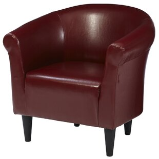 faux leather chair. Liam Barrel Chair Faux Leather