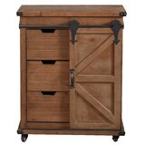 Tiernan Cart 1 Door Accent Cabinet by Gracie Oaks