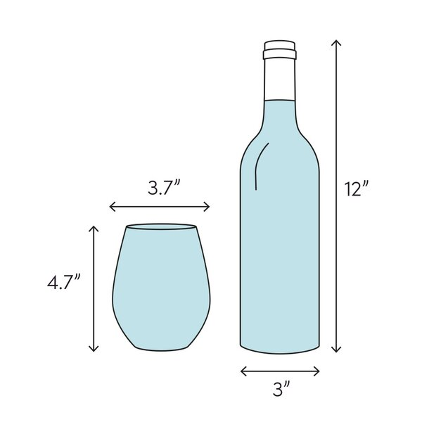 Latitude Run Ryegate 13 Oz Stemless Wine Glass Wayfair