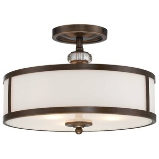 Darby Home Co Morrisonville 3-Light Semi-Flush Mount