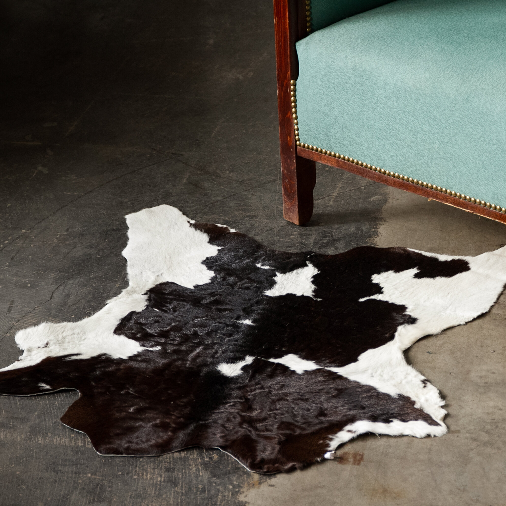 Bloomsbury Market Hafsa Animal Print Handmade Cowhide Black White Area Rug Reviews Wayfair