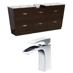 Vee 74 Double Bathroom Vanity Set by American Imaginations