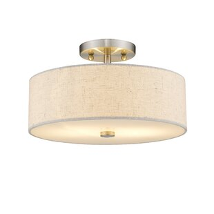 Alina 2-Light Semi Flush Mount by Ivy Bronx