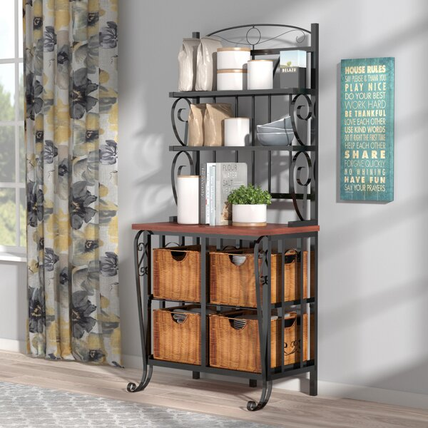 Kitchen Hutch Buffet Bakers Rack Cabinet Storage Table Pantry Wood Cutting Board