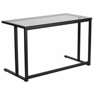 Wrought Studio Outland Glass Writing Desk