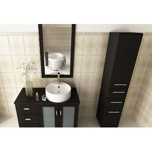39 Single Lune Modern Bathroom Vanity Set By JWH Living