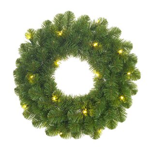 60cm Lighted Artificial Christmas Wreath By The Seasonal Aisle