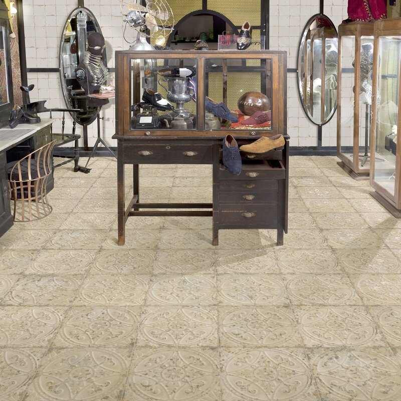 EliteTile Castile X Ceramic Field Tile In Beige Reviews - 13x13 white ceramic floor tile