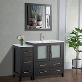 Karson 42 Single Bathroom Vanity Set with Mirror by Wade Logan®