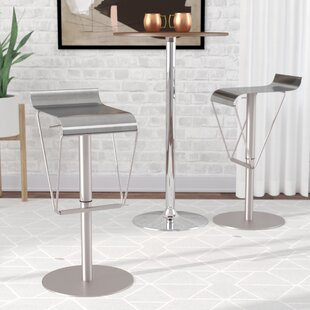 Fressia Adjustable Height Swivel Bar Stool Wade Logan