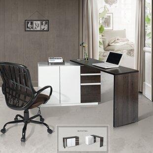 Kali L-Shape Executive Desk By Mercury Row