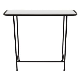 Strafford Metal Mirrored End Table by Ivy Bronx