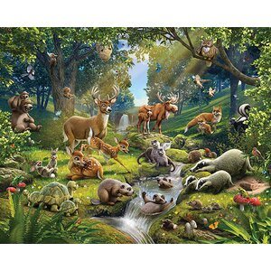 Walltastic Animals of The Forest 120' x 96 Wall Mural