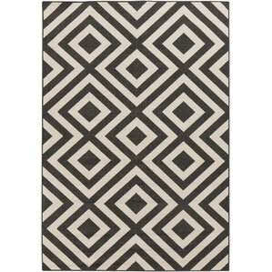 alfresco handwoven blackcream outdoor area rug